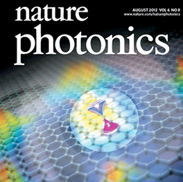 Cover of Nature Photonics Journal.