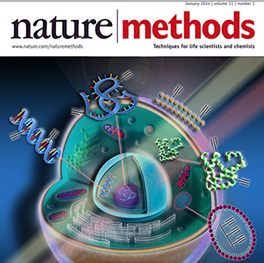 Cover art for Nature Methods Journal